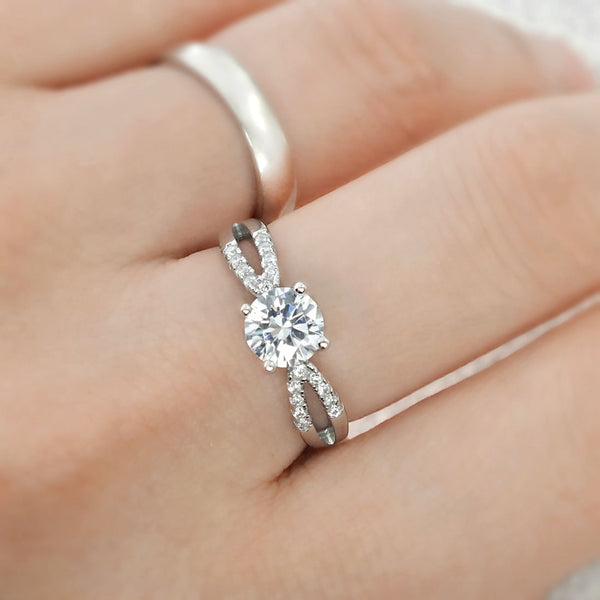 Gracious 1.4 Ct Brilliant CZ Silver Ring Wholesale Lots