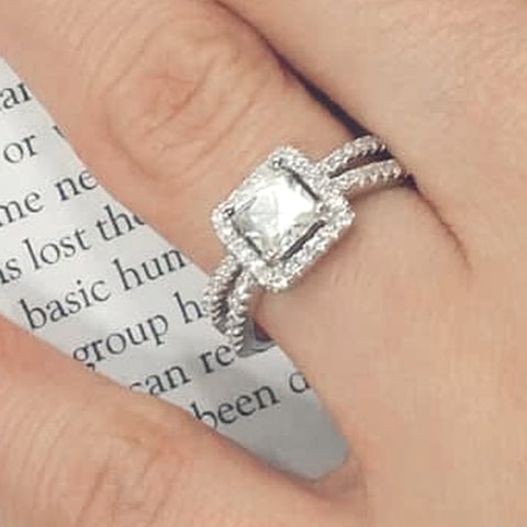 Stunning Princess CZ Sterling Silver Ring Wholesale Lots
