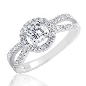 Sterling Silver 1.0 Carat Brilliant CZ Ring Wholesale Lots