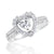 Stunning Silver 10 mm Heart Cubic Zirconia Ring Wholesale Lots