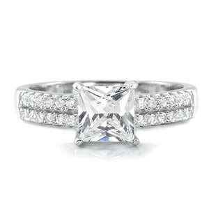 Princess Cut Cubic Zirconia 925 Sterling Silver Ring Wholesale Lots 2
