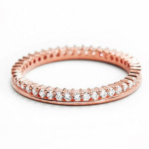 Rose Gold Plated Silver Eternity Fancy Band Ring Wholesale Lots