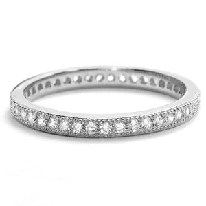 2 mm Sterling Silver Cubic Zirconia Eternity Ring Wholesale Lots