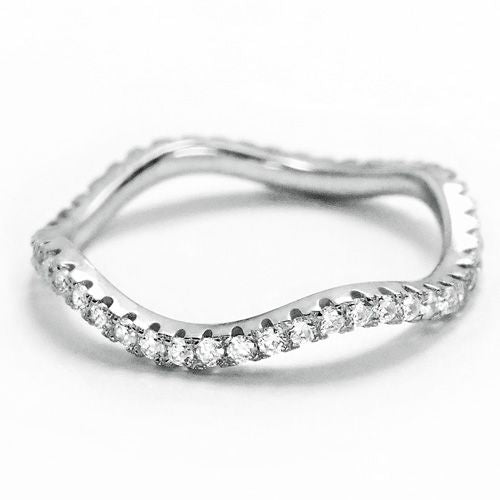 Sterling Silver CZ Eternity Wave Ring Wholesale Lots