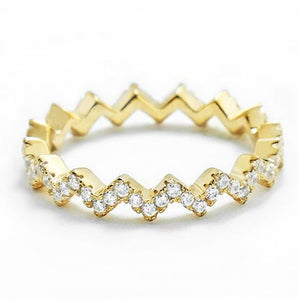 Gold Plated Silver Eternity Fashion Band Ring Wholesale