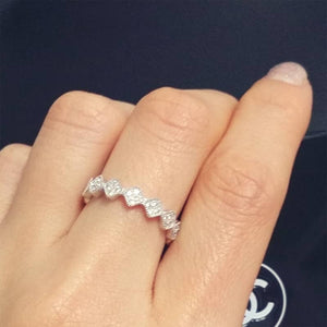 Fancy Silver Cubic Zirconia Eternity Ring Wholesale Lot 2