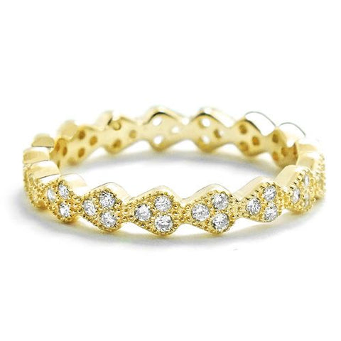 3.2mm 18K Gold Plated Sterling Silver Eternity Ring Wholesale