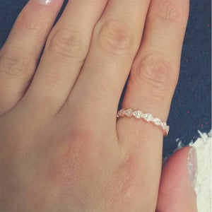 3.2mm Rose Gold Plated Sterling Silver Eternity Ring Wholesale 2