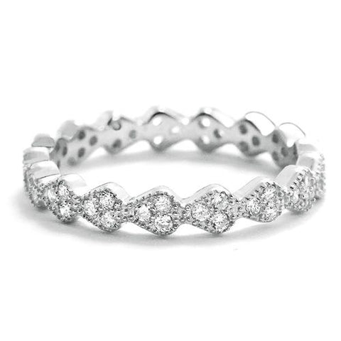 3.2mm Sterling Silver Eternity Ring Wholesale
