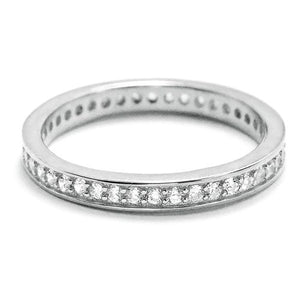 Cubic Zirconia Sterling Silver Eternity Band Ring Wholesale Lots