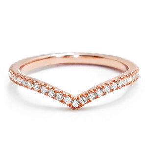 Elegant Rose Gold Plated Silver Eternity Ring Wholesale Lots
