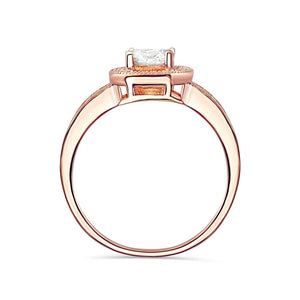 Brilliant CZ Rose Gold over Sterling Silver Ring Wholesale Lots 2
