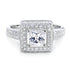 ZZZZZ123 Gorgeous Princess Cut Cubic Zirconia 925 Sterling Silver Ring