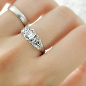 Elegant Brilliant Cut CZ Sterling Silver Ring Wholesale Lots 3