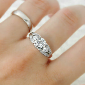 Elegant Brilliant Cut CZ Sterling Silver Ring Wholesale Lots 2