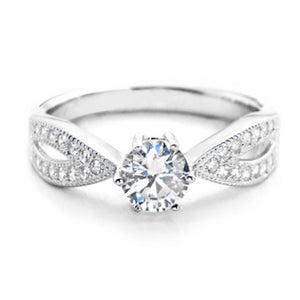 5.5mm Sterling Silver Brilliant Cut Cubic Zirconia Ring Wholesale