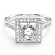 Elegant Cubic Zirconia 925 Sterling Silver Ring 10mm Wholesale Lots