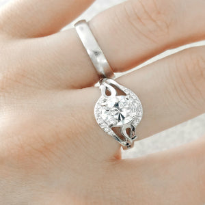 Sterling Silver 4.5 Carat Oval CZ Ring Wholesale Lots 2