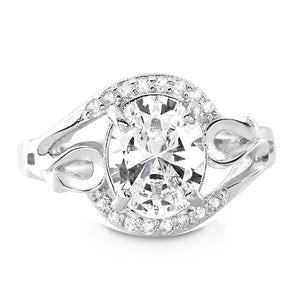Sterling Silver 4.5 Carat Oval CZ Ring Wholesale Lots
