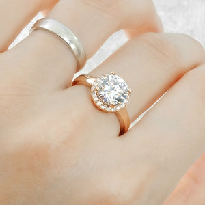 Gorgeous Rose Sterling Silver Brilliant CZ Ring Wholesale Lot