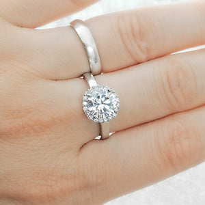 Gorgeous Sterling Silver 8mm Brilliant Cut CZ Ring Wholesale Lots