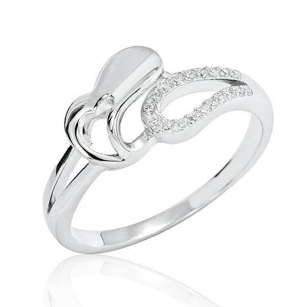 925 Sterling Silver CZ Special Heart Ring Wholesale Lots