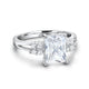 Sterling Silver Baguette Cut Cubic Zirconia Ring