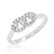 Fancy 925 Sterling Silver Cubic Zirconia Ring 6mm Wholesale