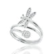 Sterling Silver Cubic Zirconia Dragonfly Ring Wholesale