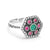 Magnificent Multi Color Sterling Silver Ring Wholesale Lots