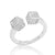 Sterling Silver Cubic Zirconia Fancy Dice Ring Wholesale