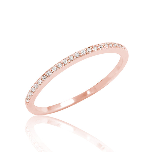 Tiny Cz Rose Gold Plated Silver Ring Wholesale Lots