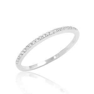 Tiny Cubic Zirconia Sterling Silver Ring Wholesale Lots