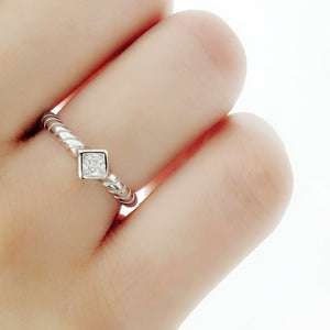 Princess Cut CZ Sterling Silver Fashion Ring Wholesale Lots 2