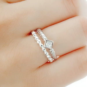 Princess Cut CZ Sterling Silver Fashion Ring Wholesale Lots 3