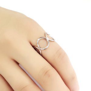 5pcs/Lot Sterling Silver Fashion Circle Ring Wholesale 3