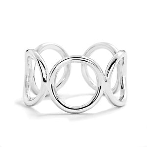 5pcs/Lot Sterling Silver Fashion Circle Ring Wholesale 2
