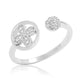5pcs/Lot Unique Sterling Silver Fashion CZ Open Ring Wholesale