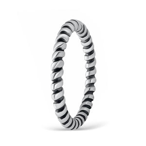 Sterling Silver Fashion Twisted Stacking Ring Wholesale Lots 2