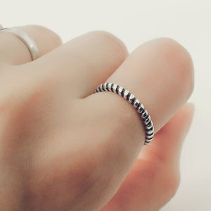 Sterling Silver Fashion Twisted Stacking Ring Wholesale Lots 3