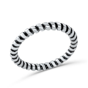Sterling Silver Fashion Twisted Stacking Ring Wholesale Lots