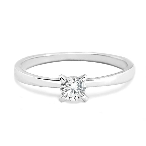 Sterling Silver 4mm CZ Solitaire Ring Wholesale Lots