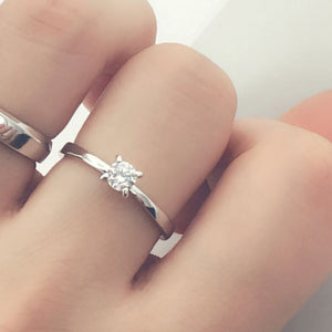 Sterling Silver 4mm CZ Solitaire Ring Wholesale Lots 2