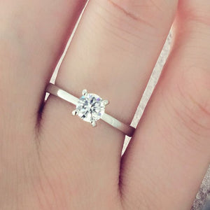 Sterling Silver 5mm CZ Solitaire Ring Wholesale Lots