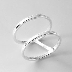 Sterling Silver Double Band Ring Wholesale Lots