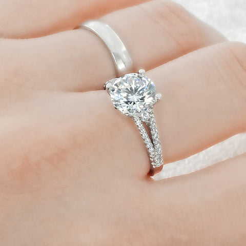 Elegant Sterling Silver Cubic Zirconia Ring Wholesale