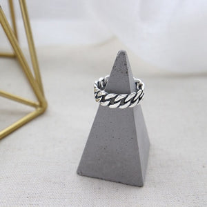 Vintage Style Link Band Open Ring 2