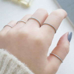Sterling Silver Thin Stackable Band Ring Wholesale 2