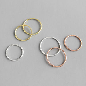 Band Round 1.2mm Sterling Silver Simple Ring Wholesale