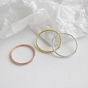 Band Round 1.2mm Sterling Silver Simple Ring Wholesale 5